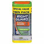 2-Pack Right Guard Total Defense Fresh Blast Clear Gel $2.20