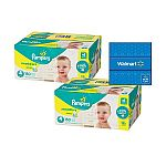 Buy 2× Pampers Swaddlers Diapers Size 1, 198 Count $95.24 + $20 Walmrt Gift Card