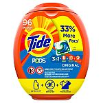 96-Count Tide Pods Liquid Laundry Detergent Pacs (Multiple Scent) $16 or Less