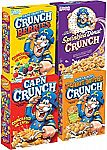 4-Pack of 14-oz Cap'N Crunch Breakfast Cereal (Variety Pack) $8.40 or Less
