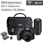 Nikon D7500 DSLR Camera 2 Lens Bundle $999.99