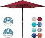 Abba Patio 9' Aluminum Market Table Umbrella w/ Push Button Tilt and Crank (3 colors) $40