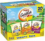 20-Count Pepperidge Farm, Goldfish Crackers, Sweet & Savory Variety Snack Packs $5.61