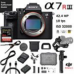 Sony a7R III Mirrorless Camera (body) + DJI Ronin-S 3-Axis Gimbal + 64GB SandIsk Extreme Pro Card $2879