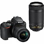 Nikon D3500 DSLR Camera with 18-55mm and 70-300mm Lenses + Memory Card $397