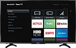 """50"""" Sharp LC-50LBU591U 4K LED UHD HDR w/ Roku HDTV $280"""