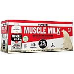 12-Pk of 11-oz Muscle Milk 25g Protein Shakes (Vanilla Crème) $8.82 or Less