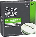 10 Pack - Dove Men+Care Body and Face Bar $7.14