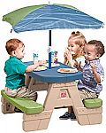 Step2 Sit and Play Kids Picnic Table With Umbrella $35
