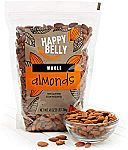 3-lbs Happy Belly Unsalted Whole Raw Almonds $12.34