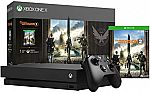 1TB Xbox One X Console with Tom Clancy's The Division 2 $329