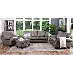 Helena Top-Grain Leather Sofa, Loveseat, Armchair and Ottoman Set by Abbyson Living $1999 (Save $1320)