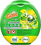 81-Ct Gain Flings Laundry Detergent Pacs $12.62 (Select Amazon Accounts)