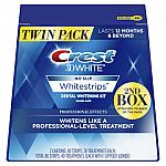 Crest 3D White Professional Effects Whitestrips Teeth Whitening Strips Kit, 40 Treatment Twin Pack (80 Whitestrips total) $45