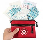 Swiss Safe 64-Piece First Aid Kit Pouch $6.99 + Free Shipping w/ Prime & More