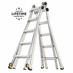Gorilla Ladders 22 ft. Reach MPX Aluminum Multi-Position Ladder with Wheels $99 and more