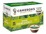 72-count Cameron's Coffee Single Serve Pods, Organic French Roast $11.57