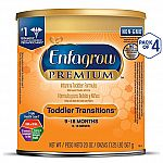 4-Count Enfagrow PREMIUM Toddler Transitions Baby Formula Milk Powder, 20 Ounce $33.50