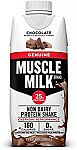 12 Count Muscle Milk Genuine Protein Shake (Chocolate, 25g Protein, 11 FL OZ) $9.28