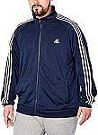 adidas Men's Essentials 3-Stripe Tricot Track Jacket $14.99