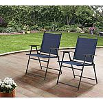 Mainstays Pleasant Grove Sling Folding Chair, Set of 2 $37