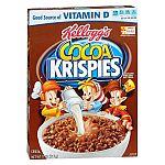 Kelloggs Cereal: 11-oz Cocoa Krispies $1.38, 13.7-Oz Raisin Bran $1.50 and more