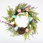 Home Accents Holiday 22 in. Easter Wreath with Speckled Eggs and Nest $4.97 + pickup