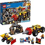 LEGO City Mining Heavy Driller 60186 Building Kit (294 Pieces) $25 (orig. $50)
