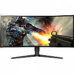 "34"" LG 34GK950F-B Ultrawide Curved QHD 144Hz 3440x1440 Monitor $799"