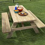 "72-in Pine Picnic Table $69, 52"" Hunter Ceiling Fan $59 (Lowes In Store, ends 5/26)"