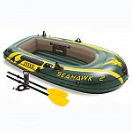Intex Seahawk 2 Inflatable 2 Person Floating Boat Raft Set with Oars & Air Pump $35.83 and more