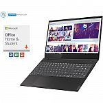 "Lenovo 15.6"" ideaPad S340 Laptop (i5-8265U 12GB 512GB SSD FHD) + Office Home & Student 2019 Kit $599"