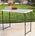 Lifetime 4' Height-Adjustable Folding Utility Table $30