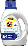100-oz Tide Free and Gentle HE Liquid Laundry Detergent $9 or Less
