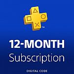 PlayStation Plus: 12 Month Membership [Digital Code] $33.99