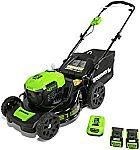 "Amazon Greenworks Garden Tool Sale: 21"" 40V Steel Deck Lawn Mower + 2 Batteries $289 & More"