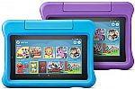 2-Pack All-New Fire 7 (16GB) Kids Edition Tablet $112, 2-Pk Fire HD 8 Tablet $146