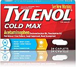 24-Ct Tylenol Cold Max Daytime Caplets $1.50