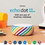 All-New Echo Dot Kids Edition with 1yr Freetime Unlimited $49.99 (Pre-Order Save $20)