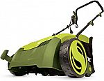"Sun Joe AJ801E 12 Amp 12.6"" Electric Scarifier Plus Lawn Dethatcher with Collection Bag $79.99"