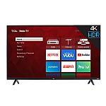 """75"""" TCL 75S425 4K UHD HDR Roku Smart LED HDTV (2019) $900"""