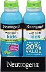 2-Pk of 5-oz Neutrogena Wet Skin Kids Sunscreen Spray (SPF 70+) $10.50
