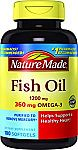 Nature Made Fish Oil 1200 mg w. Omega-3 360 mg Softgels 100 Ct $4.84