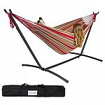 Double Hammock w/ Steel Stand & Carrying Case $50