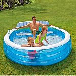Intex Swim Center Inflatable Family Lounge Pool $24