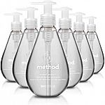 6-Pk of 12-oz Method Gel Hand Soap (Sweet Water) $12 or Less