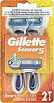 2-Ct Gillette Sensor5 Men's Disposable Razors $2.32