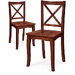 Set of 2 Better Homes and Gardens Ashwood Road Wood Dining Chair $35.48