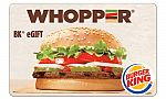 $5 for a $10 Burger King eGift Card (Selected Groupon Members)
