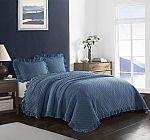 Better Homes & Gardens Acid Wash Ruffle Quilt Set $12.06